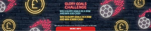 Glory Goals at Red Zone sports