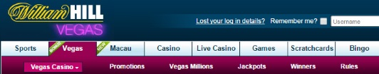 William Hill different available casinos
