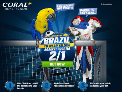Brazil to wear yellow World Cup enhanced odds offer
